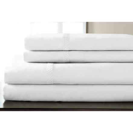 Elite Home Verona Cotton Wrinkle Resistant Sheet Set - Full, 300 TC in White - Closeouts