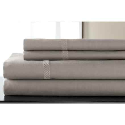 Elite Home Verona Cotton Wrinkle Resistant Sheet Set - King, 300 TC in Grey - Closeouts
