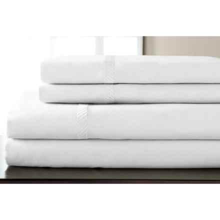 Elite Home Verona Cotton Wrinkle Resistant Sheet Set - Queen, 300 TC in White - Closeouts