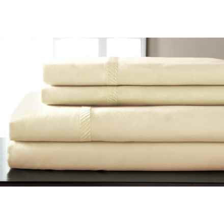 Elite Home Verona Cotton Wrinkle Resistant Sheet Set - Twin, 300 TC in Ivory - Closeouts