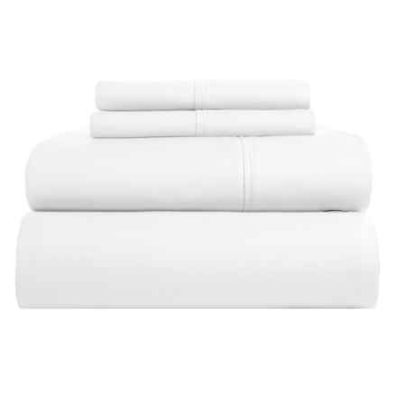 Elite Home Yardley Sheet Set - Queen, 600 TC in White - Closeouts