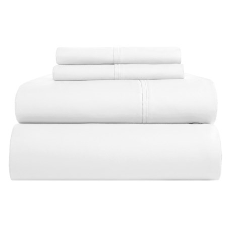Elite Home Yardley Sheet Set - Queen, 600 TC in White