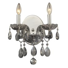 Elk Lighting Angelique Wall Sconce in Silver Smoke - Closeouts