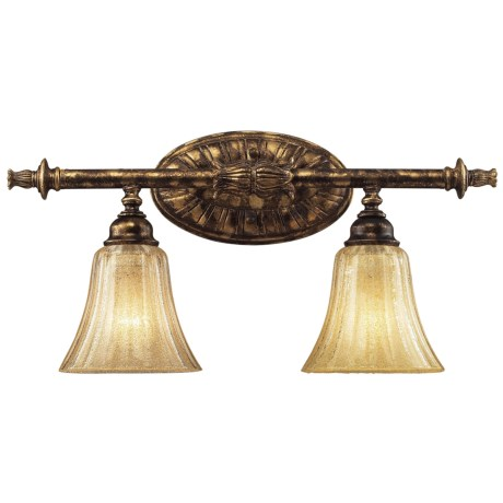 Elk Lighting Bedminster 2-Light Bath/Bar Vanity in Burnt Gold Leaf Finish