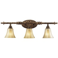 Elk Lighting Bedminster 3-Light Bath/Bar Vanity in Burnt Gold Leaf Finish - Closeouts