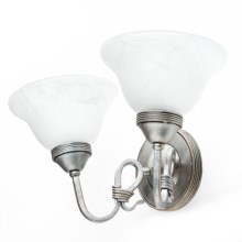 Elk Lighting Buckingham Wall Sconce - 2-Light in Antique Silver/White - Closeouts