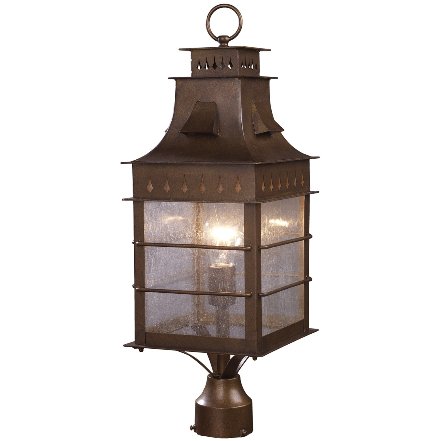 Exterior Wall Sconce Mounting Height : Elk Lighting Colony Height 1-Light Outdoor Post Mount - Extra Large - Save 59%
