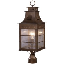 Elk Lighting Colony Height 1-Light Outdoor Post Mount - Extra Large in Coffee Bronze - Closeouts