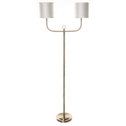 Elk Lighting Double Armed Floor Lamp in Antique Brass - Closeouts
