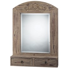 Elk Lighting Double Drawer Wall Mirror in Washed Wood - Closeouts
