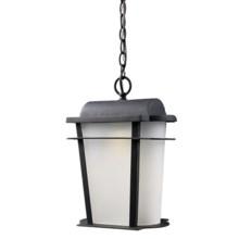 "Elk Lighting Hampton Ridge LED Outdoor Hanging Lantern - 16"", 1-Light in Weathered Charcoal - Closeouts"