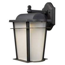 "Elk Lighting Hampton Ridge LED Outdoor Wall Sconce Lantern - 18"", 1-Light in Weathered Charcoal - Closeouts"