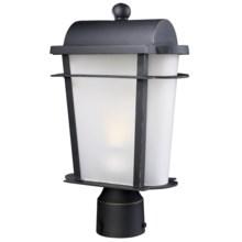 "Elk Lighting Hampton Ridge Outdoor Post Lamp Lantern - 10x18"" in Weathered Charcoal - Closeouts"