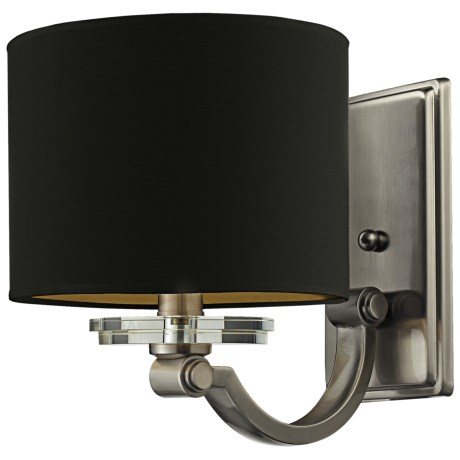 Elk Lighting Montauk 1-Light Wall Lamp with Shade in Pewter W/Black