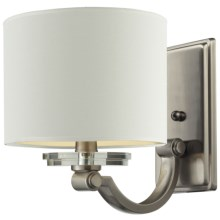 Elk Lighting Montauk 1-Light Wall Lamp with Shade in Pewter W/White - Closeouts