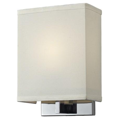 Elk Lighting Montauk 1-Light Wall Sconce - Fabric Shade in Chrome/White
