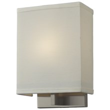Elk Lighting Montauk 1-Light Wall Sconce - Fabric Shade in Satin Nickel - Closeouts