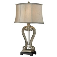 Elk Lighting Silver Harp Table Lamp in Silver Leaf - Closeouts