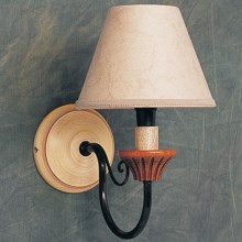 Elk Lighting Solid Hardwood Wall Sconce with Shade - 1-Light in Antique White - Closeouts