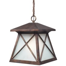 Elk Lighting Spencer 1-Light Outdoor Pendant in Hazelnut Bronze - Closeouts