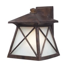 Elk Lighting Spencer 1-Light Outdoor Sconce - Wall Mount, Large in Hazelnut Bronze - Closeouts
