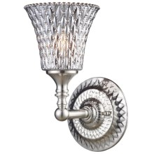 Elk Lighting Victoriana Wall Sconce - 1-Light in Satin Nickel - Closeouts