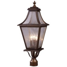Elk Lighting Washington Avenue 3-Light Outdoor Post Mount in Coffee Bronze - Closeouts