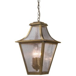 Elk Lighting Washington Avenue Outdoor Hanging Lantern - 3-Light in Coffee Bronze