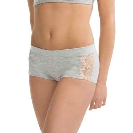 Ella Moss Audrey Panties - Boy Shorts (For Women) in Heather Grey - Closeouts