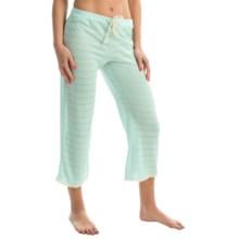 Ella Moss Skyler Crop Lounge Pants (For Women) in Bleached Aqua - Overstock