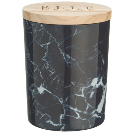 Elle Décor Black Currant Marbled Jar Candle - 16.6 oz. in Black