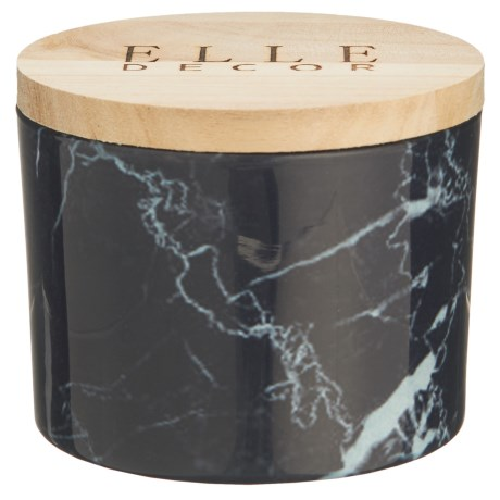 Elle Decor Black Currant Marble Jar Candle - 11.2 oz. in See Photo