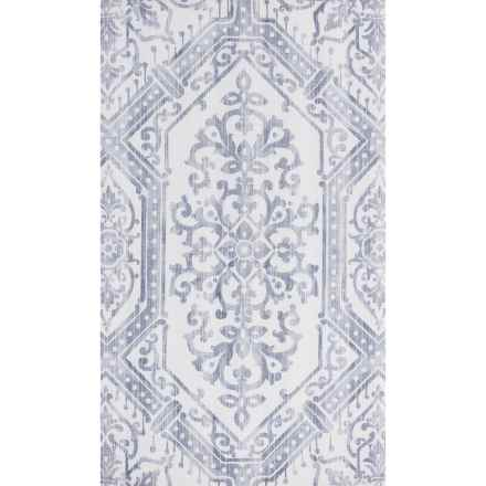 "Elle Decor Brush Strokes Indoor-Outdoor Rug - 27x45"" in Ivory/Gray Medallion - Overstock"