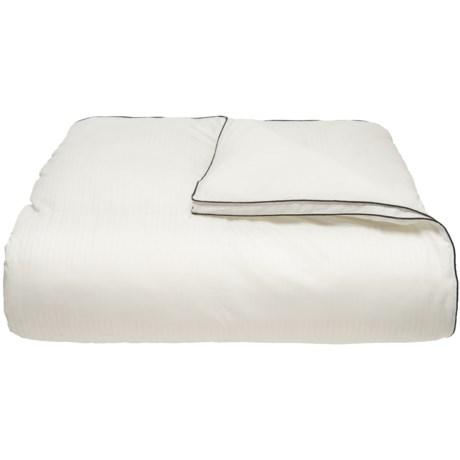 Elle Rich Pinstripe Alt-Down Comforter - Full-Queen, 1000 TC in White