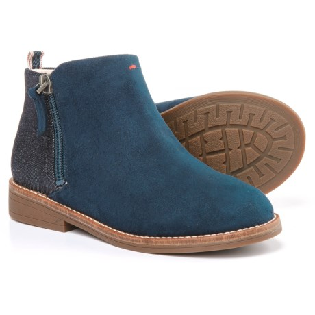 Ellen DeGeneres ED Glynn Boots (For Big Girls) in Lagoon/Dark Blue/Black