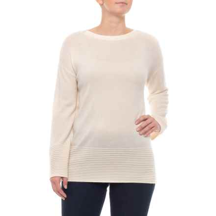 8b6b015103b511 Ellen Tracy 100% Cashmere Pullover Sweater (For Women) in Sweet Vanilla -  Closeouts