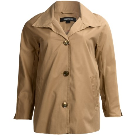 Ellen Tracy A Line Jacket Convertible Cuffs (For Plus Size Women)
