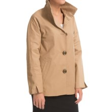 Ellen Tracy A-Line Jacket - Convertible Cuffs (For Women) in Wheat - Closeouts