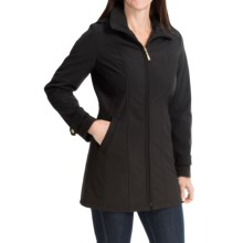 Ellen Tracy A-Line Soft Shell Jacket (For Women) in Black - Closeouts