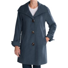 Ellen Tracy A-Line Wool Coat (For Women) in Prussian Blue - Closeouts