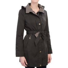 Ellen Tracy Belted Rain Jacket - Removable Liner Vest (For Women) in Black/Olive - Closeouts