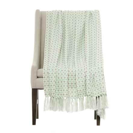 "Ellen Tracy Decorative Throw Blanket - 50x60"" in Harbor Grey - Closeouts"