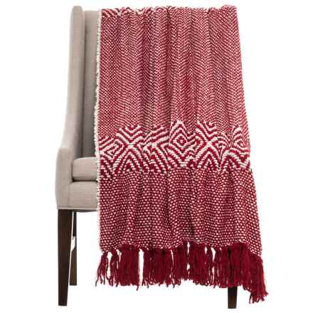 "Ellen Tracy Diamond Eyes Throw Blanket - 50x60"" in Chili Pepper - Closeouts"