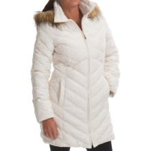 Ellen Tracy Down Walker Coat - Faux-Fur-Trim Hood (For Women) in Winter White - Closeouts