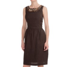 Ellen Tracy Embellished Beaded Sheath Dress - Sleeveless (For Women) in Brown - Closeouts