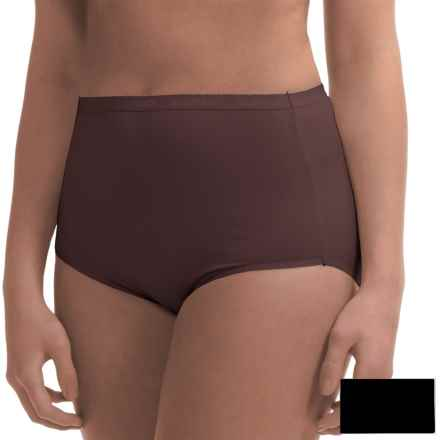 Ellen Tracy Full-Cut Panties - Briefs, 2-Pack (For Women) in Expresso/Black - Closeouts