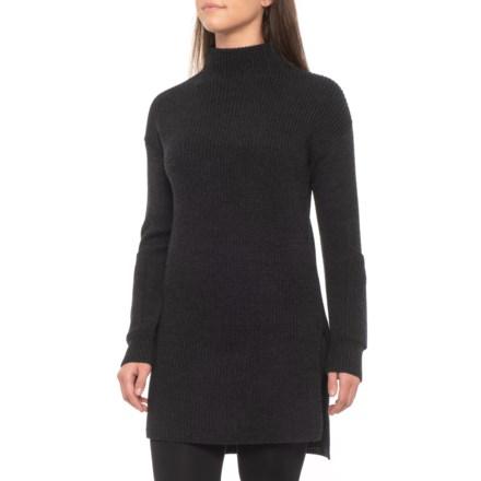 54cd03eccd9 Ellen Tracy Funnel Neck Tunic Sweater (For Women) in True Charcoal Heather  - Closeouts
