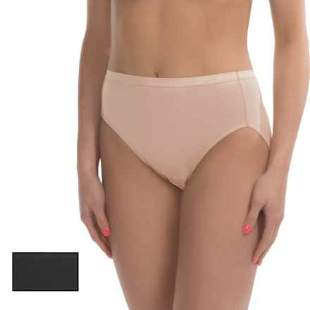 Ellen Tracy High-Cut Panties - Briefs, 2-Pack (For Women) in Black/Sunbeige - Closeouts