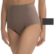 Ellen Tracy Micro Tummy-Smoother Panties - 2-Pack, Briefs (For Women) in Mocha/Black - Closeouts