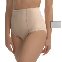 Ellen Tracy Micro Tummy-Smoother Panties - 2-Pack, Briefs (For Women) in White/Sunbeige - Closeouts